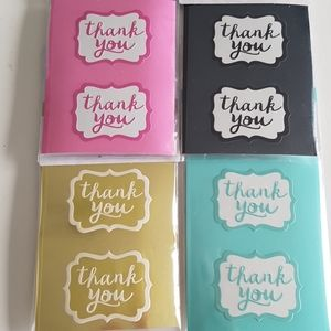 """200 pcs Removable Thank You Stickers 1.5""""x1.5"""" in"""
